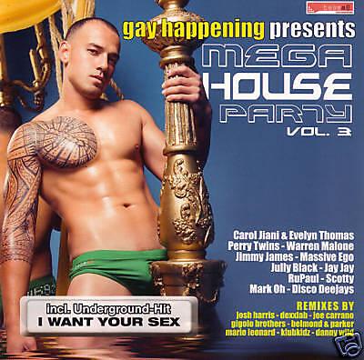 CD Gay Happening Mega House Party 3 De Varios Artistas 2CDs