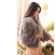 Grey Real Fur Coat