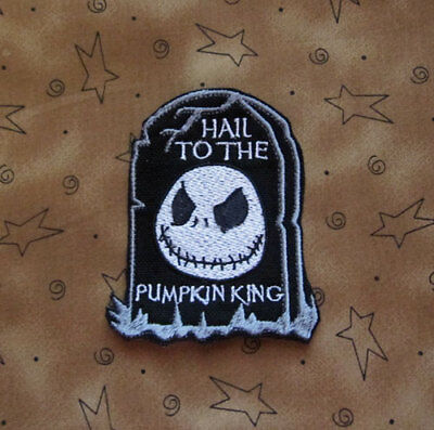 Hail To The Pumpkin King Halloween Town Jack Skellington Iron On Patch ()