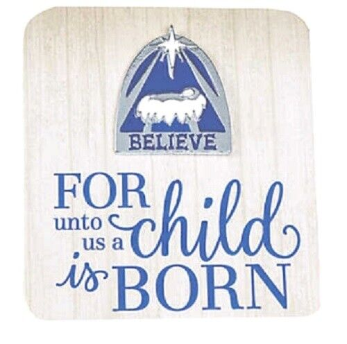 1 Nativity Silhouette Pin on Card **Free S/H with 6 items from my store