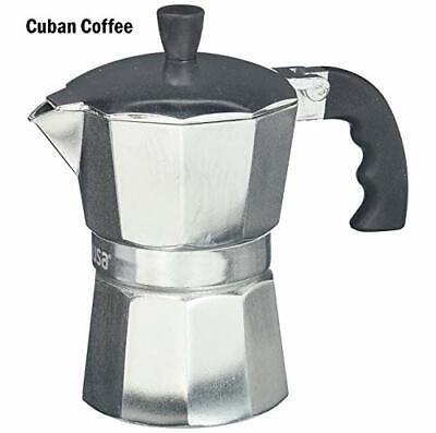 IMUSA USA B120-42V Aluminum Espresso Stovetop Coffeemaker 3-Cup, Silver 3-Cup