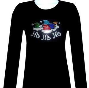 christmas rhinestone t shirt