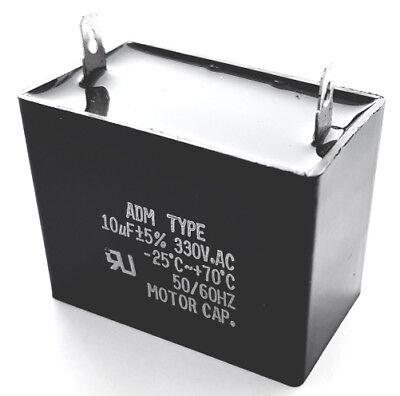 Motor Run Capacitor Metallized Polyester 10uf 330vac 5 Adm330a106j 1 Pc