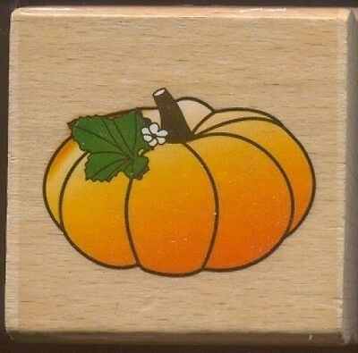 PUMPKIN LEAF STEM Halloween Fall Season Medium NEW Wood Mount CRAFT RUBBER STAMP