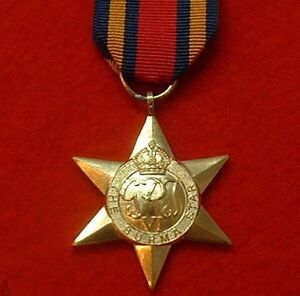 World War II Burma Star WW 2 Military Medals