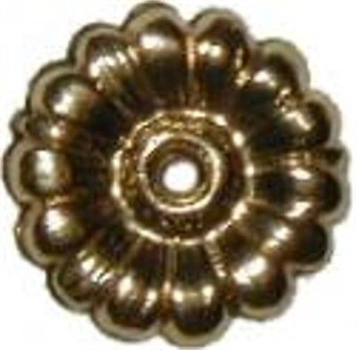 LOT OF 10 EACH STAMPED BRASS ROSETTES  B4629-10