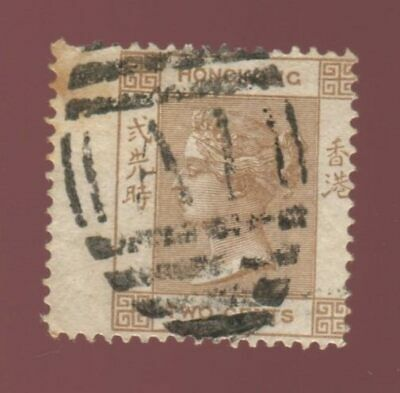 Hong Kong, 1865 Queen Victoria 2c, used