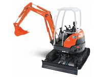 Groundwork's, landscaping and digger and driver hire