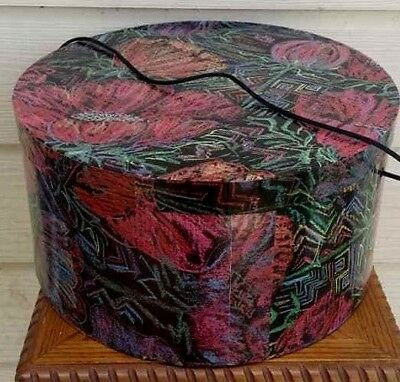 Vintage multi color round Cardboard  Hat Box - Round Cardboard Boxes