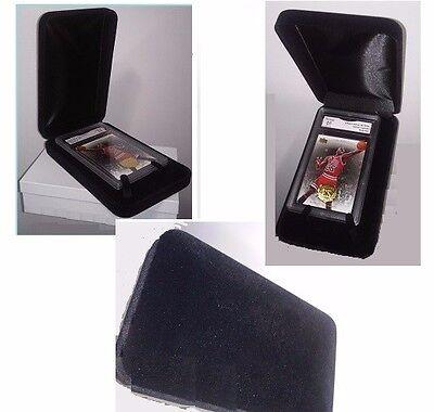 Large Black Velvet GIFT BOX for Card Holders great for Gift Ideas of Sport Cards