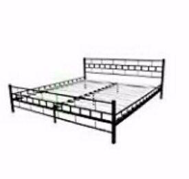 6ft super king size black metal bed frame