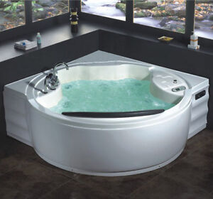 Vasca idromassaggio 180x180 2 posti 20 getti angolare full optional idro e air10 ebay - Vasca da bagno circolare ...