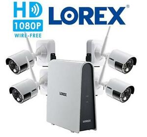 NEW LOREX 1080P SECURITY CAMERA KIT LHB80616GC4W 221285925 HD Wire Free Camera System with 4 Outdoor Battery Operated...
