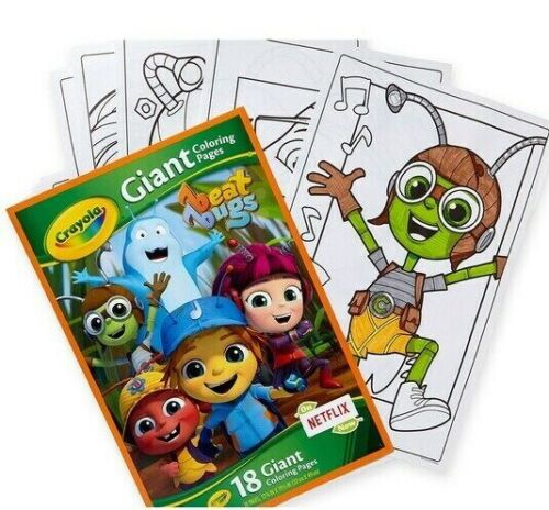 """Netflix Beat Bugs Crayola Giant Coloring Pages 18pgs Book 13x20"""" Poster Sheets"""