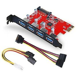 Inateck Superspeed 4 Ports PCI-E to USB 3.0 Expansion Card