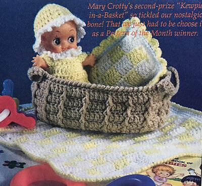 Basket Crochet Pattern - Crochet Pattern Only ~ 5 1/2
