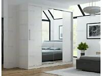 BRAND NEW Two Sliding Doors Wardrobe with Mirror FREE DELIVERY