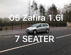 7 Seats! £1099 2005 Vauxhall ZAFIRA 1.6l* like astra focus cmax megane civic scenic vectra mondeo