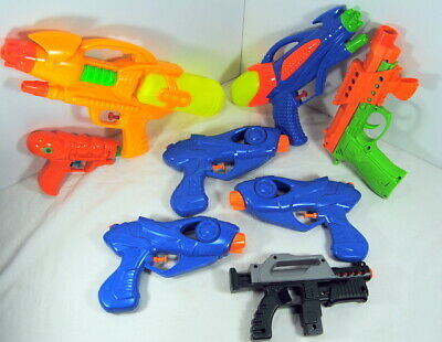 Squirt Guns Lot of 8 Steampunk Gun Fabrication Supply Water Toys Various Sizes