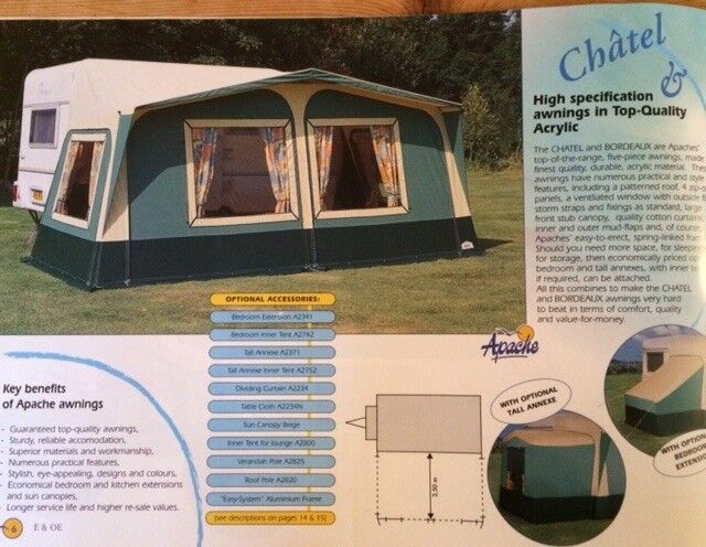 00566dfda4 Apache Caravan Awning with two side bedroom extensions