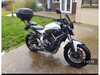 Yamaha MT 07 motorbike with lots of extras
