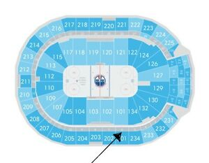 2 season ticket holder tickets to the LA vs Oilers game