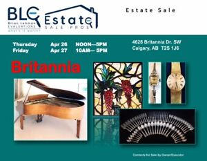 Estate Sale Calgary 2 Days Only! 4628 Britannia Dr. SW