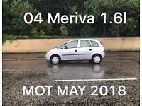 £695 2004 Vauxhall Meriva 1.6l* like astra focus cmax megane civic scenic vectra mondeo