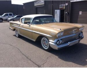 1958 chevrolet impala 2dr coupe ANNIVERSARY GOLD