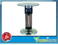 """OUTDOOR/INDOOR 25.5"""" TALL 1200W INFRARED HEATED TABLE"""