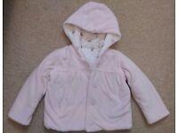 M&S warm pale pink jacket 9-12 months