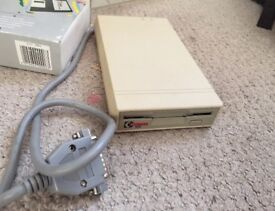 """Amiga Cumana 3.5"""" Floppy Disk Drive Boxed in Working Condition"""