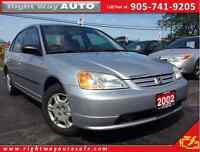 2002 Honda Civic DX-G | 155Km | SAFETY & E-TESTED