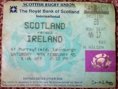 1995 SCOTLAND v IRELAND ticket