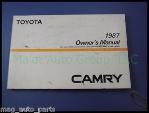 toyota camry owners manual booklet book warranty 87 ebay. Black Bedroom Furniture Sets. Home Design Ideas