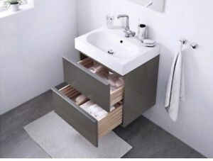 "24"" IKEA bathroom sink and cabinet. Mint condition"