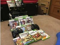 Xbox 360 Slim 250GB Excellent Condition With Kinect, 2 headsets and games bundle