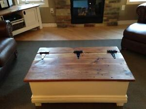 Custom Chest Style Coffee Table with Rustic Wood Top Peterborough Peterborough Area image 6