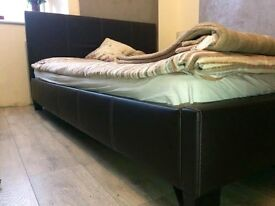 Double bed frame + mattress