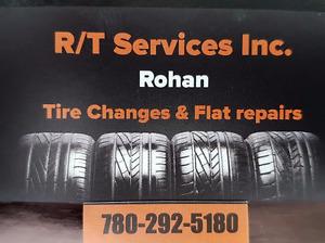 Tire Change: Swap $10/tire; Change Over $15-$20/tire Flat Repair