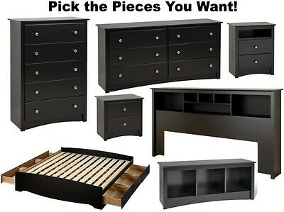 Black Bedroom Furniture Sets Dresser Drawer Nightstand Chest Dressers Durable