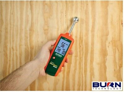 Extech Mo257 Pinless Moisture Damp Meter - Non-invasive Measure Wood Building