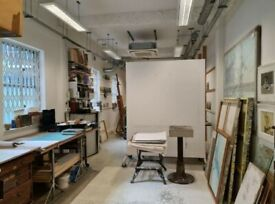 650 SQ FT PRIVATE GROUND FLOOR ARTIST STUDIO OR CREATIVE SPACE TO RENT IN BARBICAN , LONDON EC1
