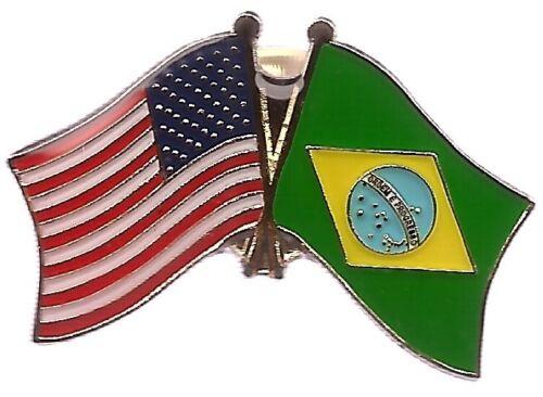 LOT OF 12 Brazilian Friendship Flag Lapel Pins - Brazil Flag Pin