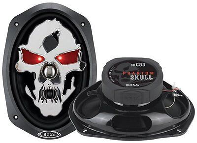 BOSS AUDIO SK693 Phantom Skull 6 x 9 3-way 600-watt Full Ran