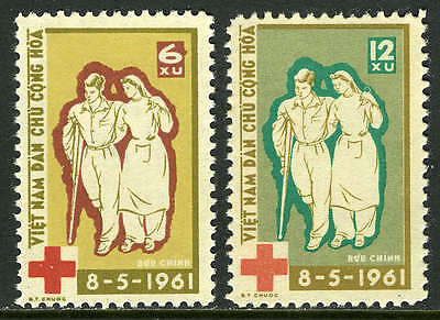 Viet Nam 156-157, MI 162-163, MNH. International Red Cross, 1961