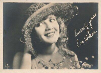 LOIS WILSON Beautiful Original Vintage 1920s Silent Starlet DBW Portrait Photo