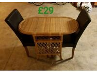 Space saver table & 2 chairs