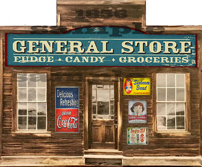O SCALE SCRATCH BUILD BUILDING GENERAL STORE FLAT FRONT STICKER EASY FLATS for sale  Shipping to India