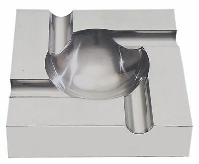 Contemporary Aluminum Full Metal 4 Cigar Ashtray